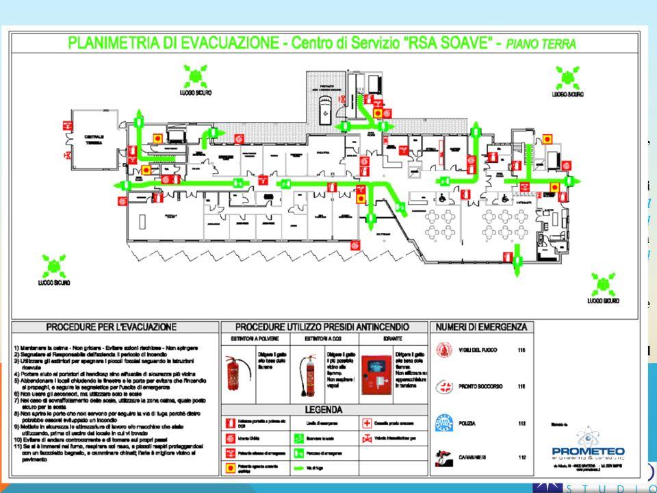 Modalità per levacuazione delle persone Lobiettivo principale di ogni piano di emergenza è quello della salvaguardia delle persone presenti, e quindi della loro evacuazione, quando necessaria Si deve precisare che il piano di evacuazione non è il piano di emergenza, come alcuni erroneamente ritengono, ma è una parte del piano di emergenza generale (in pratica un piano nel piano), che descrive con gli opportuni dettagli tutte le misure adottate (in fase preventiva e di progetto), e tutti i comportamenti da attuare (in fase di emergenza) per garantire la completa evacuazione delledificio o della struttura da parte di tutti i presenti (siano essi gli stessi titolari, i dipendenti, i clienti, i visitatori, etc.), in caso di emergenza Anche il piano di evacuazione deve essere elaborato tenendo conto del tipo di evento ipotizzato e delle caratteristiche dellazienda Si ricorda che la predisposizione del piano di evacuazione va effettuata prevedendo di far uscire dal fabbricato tutti gli occupanti, utilizzando le normali vie di esodo CORSO LAVORATORI ART.37 - NORMATIVA 129 AMBROSTUDIO S.R.L.
