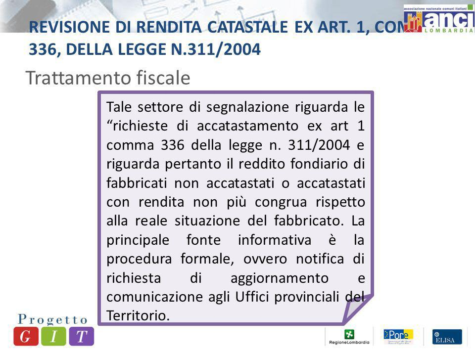 REVISIONE DI RENDITA CATASTALE EX ART.