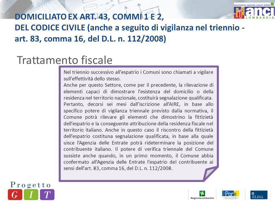 DOMICILIATO EX ART.