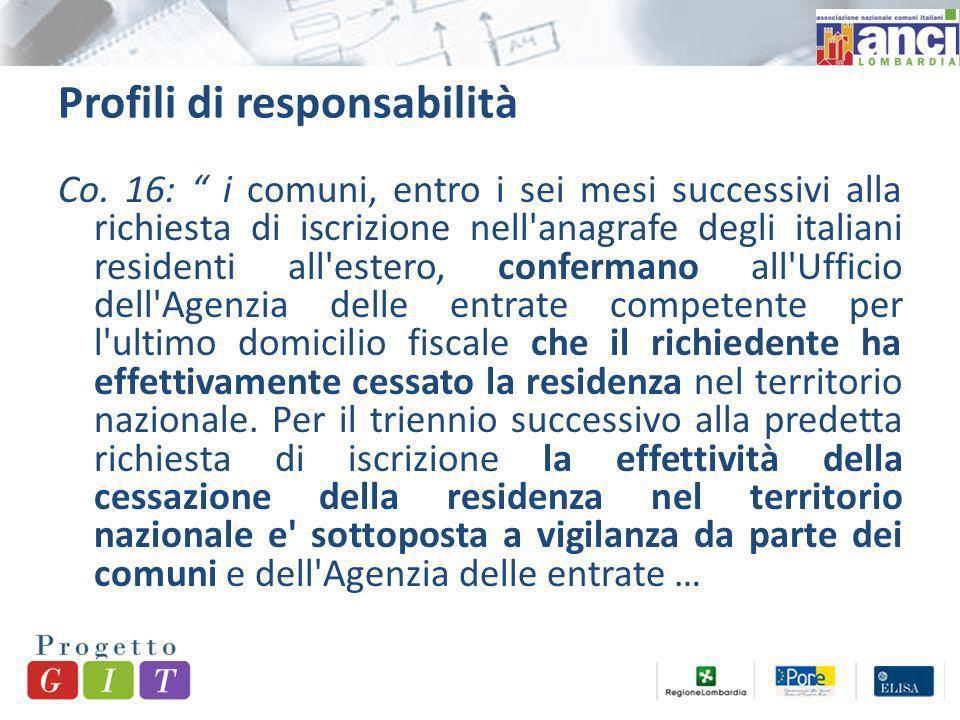 Profili di responsabilità Co.