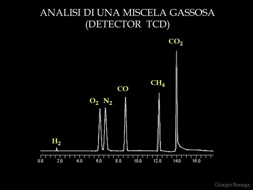 ANALISI DI UNA MISCELA GASSOSA (DETECTOR TCD) 0 5 t (min) Giorgio Bonaga H2H2 O2O2 N2N2 CO CH 4 CO 2