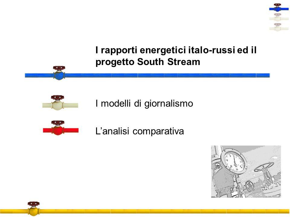I rapporti energetici italo-russi ed il progetto South Stream I modelli di giornalismo Lanalisi comparativa