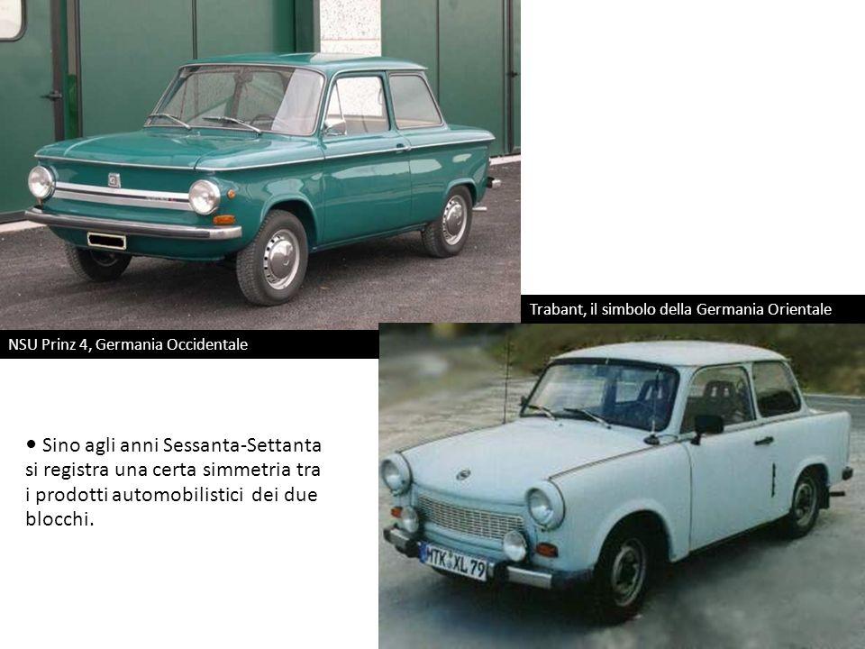 NSU Prinz 4, Germania Occidentale Trabant, il simbolo della Germania Orientale Sino agli anni Sessanta-Settanta si registra una certa simmetria tra i