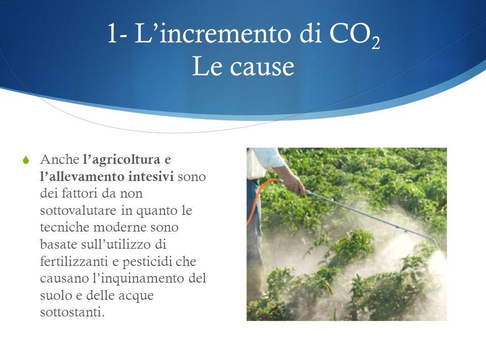 1- Lincremento di CO 2 Le cause Le attività industriali sono responsabili di circa il 75% dei rifiuti prodotti, e nonostante gli ultimi decenni del XX