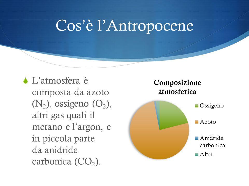 Cosè lAntropocene Attraverso lanalisi delle carote di ghiaccio gli studiosi hanno ricostruito la composizione dellatmosfera delle epoche precedenti.