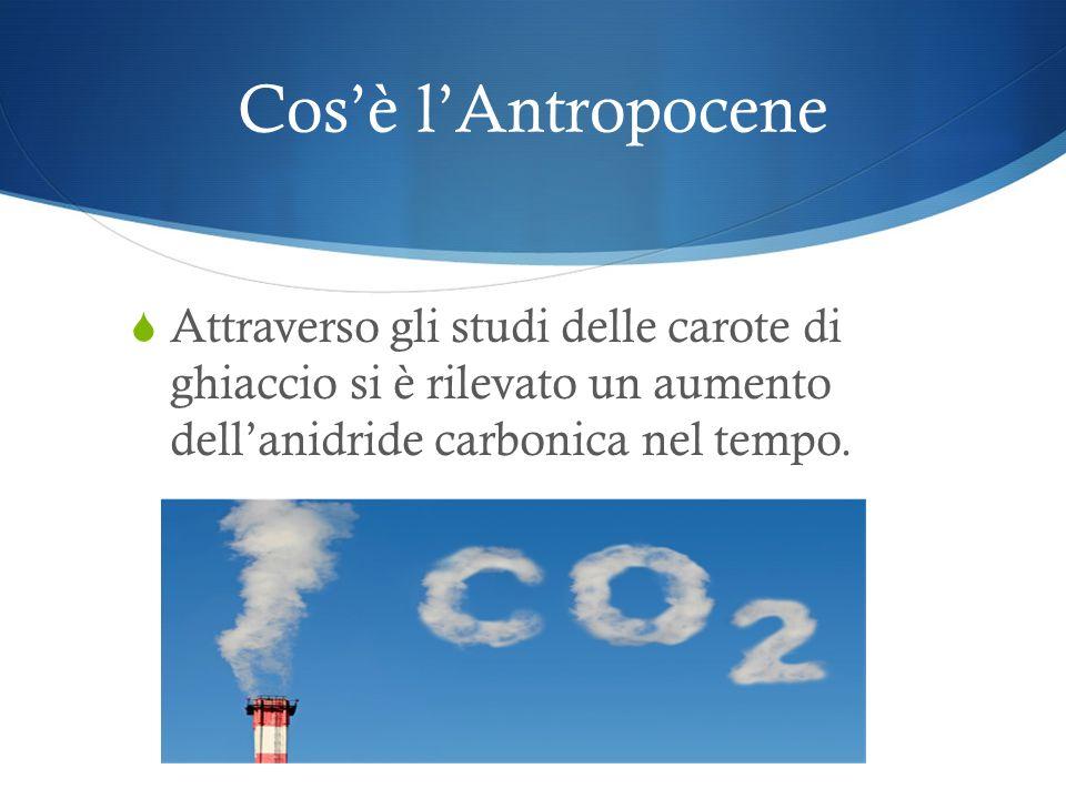 Cosè lAntropocene Latmosfera è composta da azoto (N 2 ), ossigeno (O 2 ), altri gas quali il metano e largon, e in piccola parte da anidride carbonica