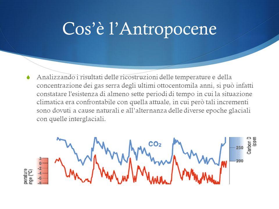 Cosè lAntropocene Infatti l'analisi delle carote di ghiaccio dell'Antartide documentano incrementi della temperatura media di circa 10°C avvenuti in s