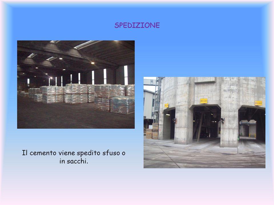 SPEDIZIONE Il cemento viene spedito sfuso o in sacchi.