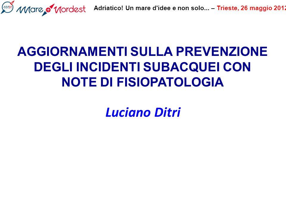 Adriatico.Un mare d idee e non solo... – Trieste, 26 maggio 2012 Ridurre il carico di Bolle.