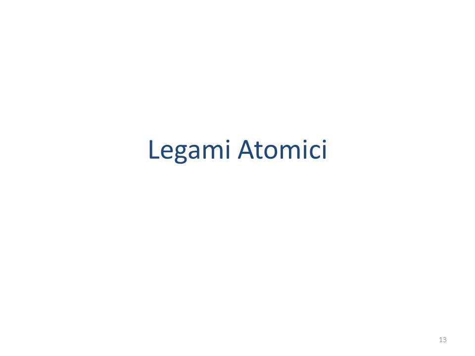 Legami Atomici 13