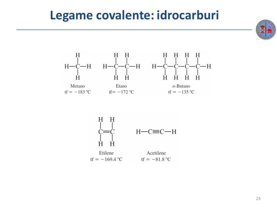 Legame covalente: idrocarburi 24