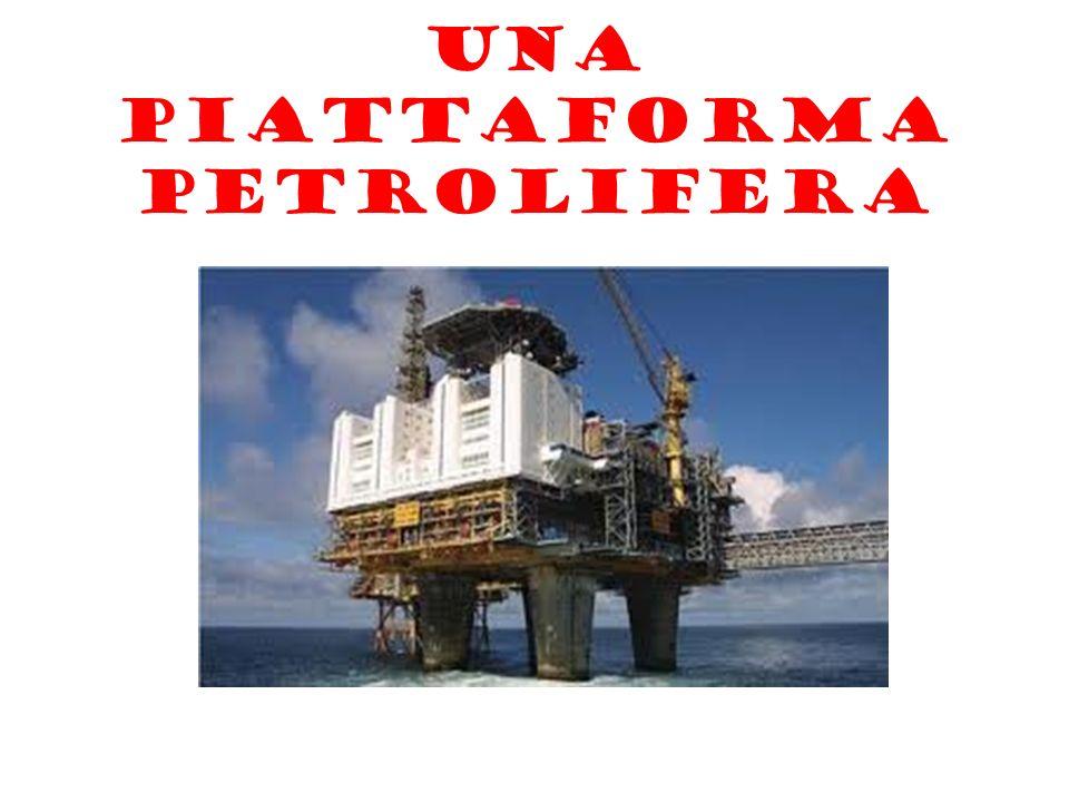 Una piattaforma petrolifera