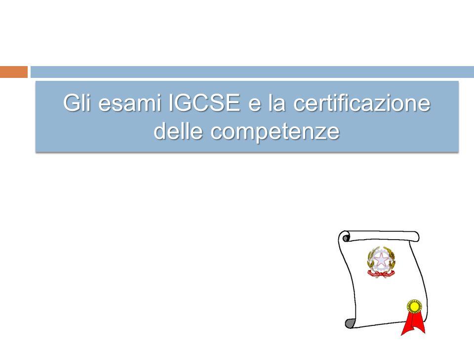 Gli esami IGCSE e la certificazione delle competenze