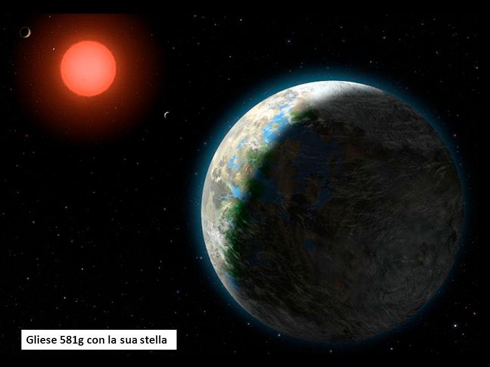 Gliese 581g con la sua stella