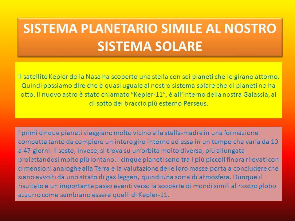 Il satellite Kepler della Nasa ha scoperto una stella con sei pianeti che le girano attorno. Quindi possiamo dire che è quasi uguale al nostro sistema