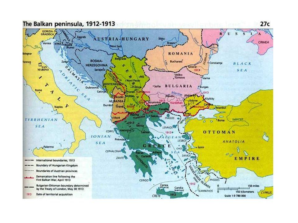 LAustria strappò alla Turchia la Bosnia – Erzegovina (1908).