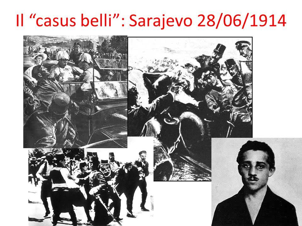 Il casus belli: Sarajevo 28/06/1914