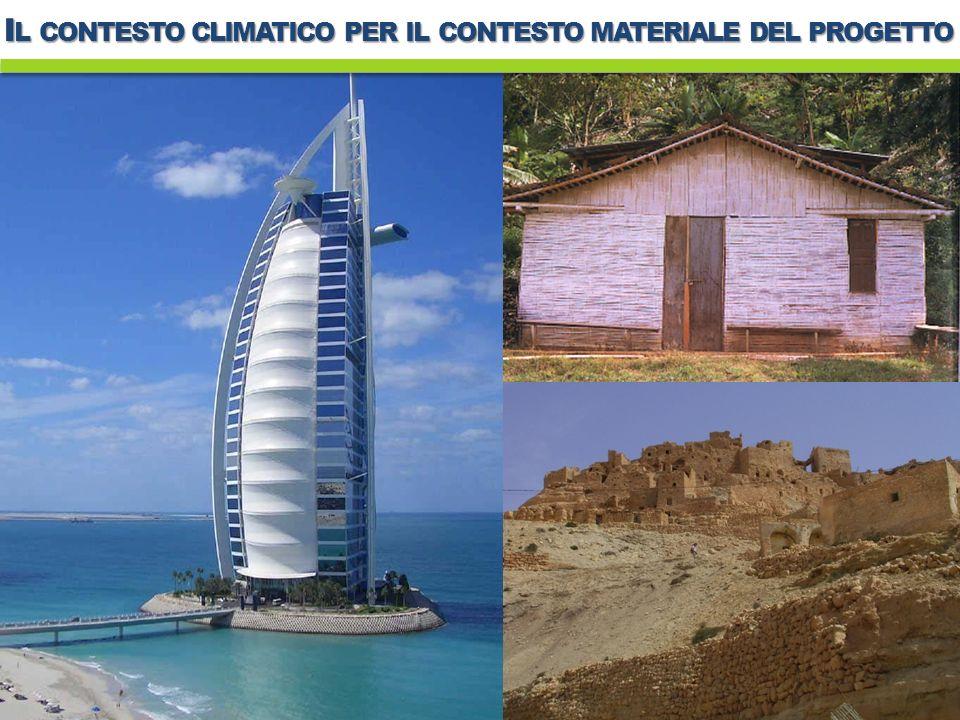 I L CONTESTO CLIMATICO PER IL CONTESTO MATERIALE DEL PROGETTO