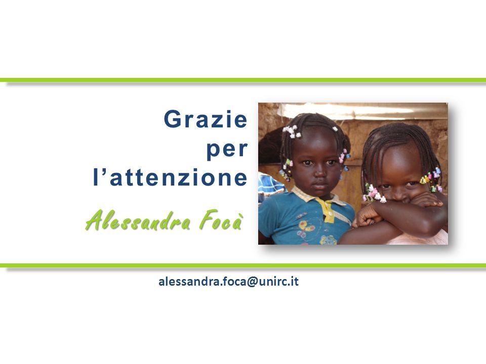 Grazie per lattenzione alessandra.foca@unirc.it Alessandra Focà