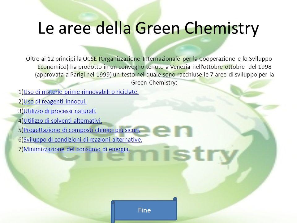 Uso di materie prime rinnovabili o riciclate: Questa branca della Green Chemistry si ripropone di trovare ed utilizzare materie prime appunto rinnovabili anziche quelle non rinnovabili.