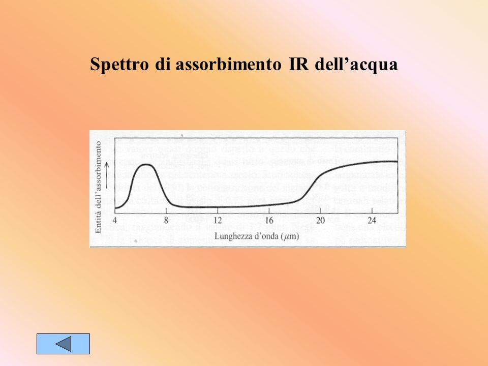 Spettro di assorbimento IR dellacqua