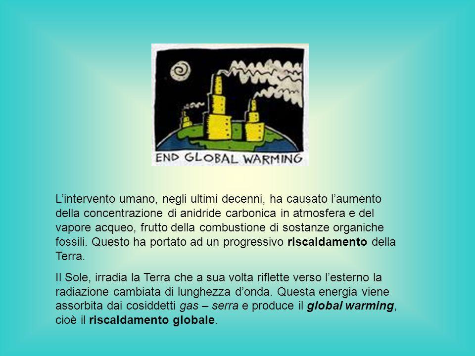 Lintervento umano, negli ultimi decenni, ha causato laumento della concentrazione di anidride carbonica in atmosfera e del vapore acqueo, frutto della