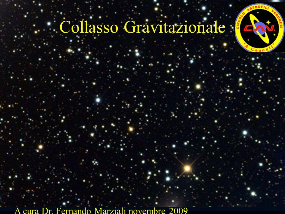 Collasso Gravitazionale A cura Dr. Fernando Marziali novembre 2009