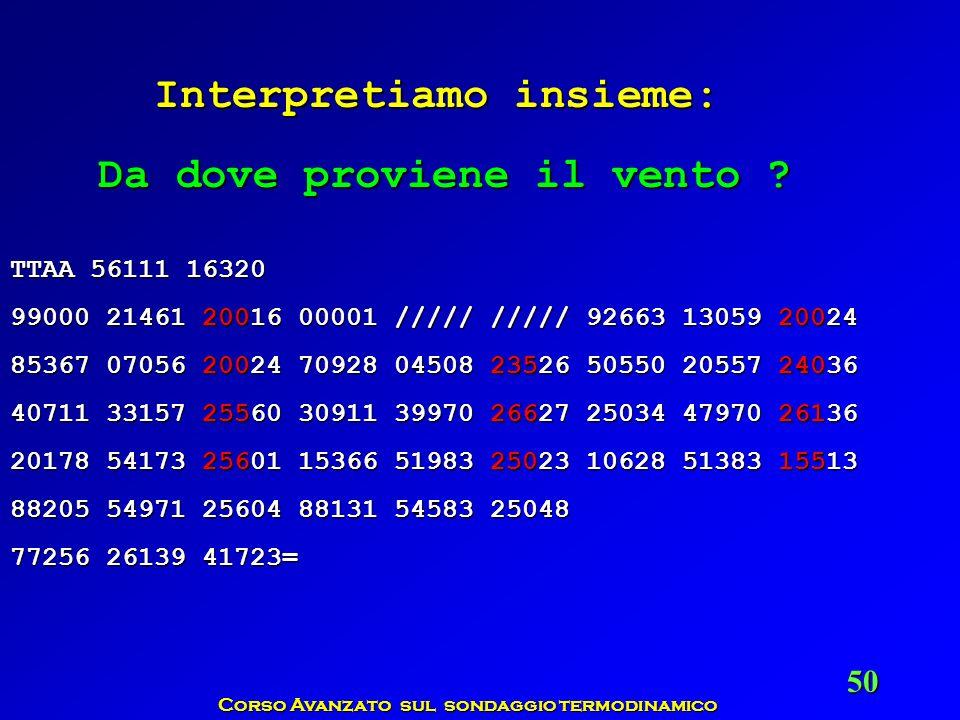Corso Avanzato sul sondaggio termodinamico 50 TTAA 56111 16320 99000 21461 20016 00001 ///// ///// 92663 13059 20024 85367 07056 20024 70928 04508 235