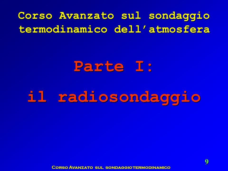 Corso Avanzato sul sondaggio termodinamico 9 Corso Avanzato sul sondaggio termodinamico dellatmosfera Parte I: il radiosondaggio