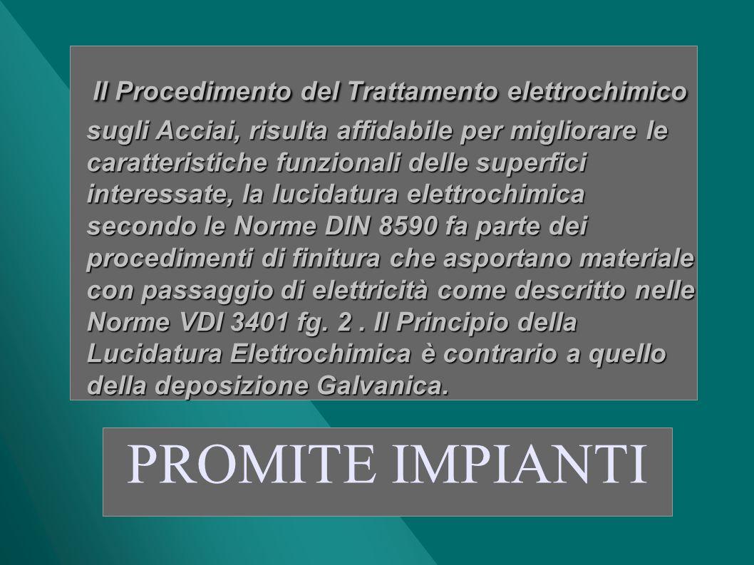 Applicazione del trattamento per impieghi Impiantistici e del Vuoto PROMITE IMPIANTI