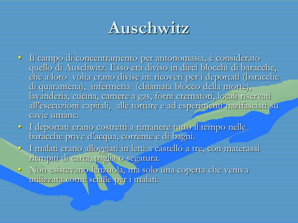 Auschwitz Il campo di concentramento per antonomasia, è considerato quello di Auschwitz.