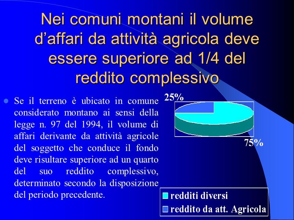 Per il riconoscimento della ruralità è necessario ricavare dallattività agricola un volume daffari superiore alla metà o ad un quarto del reddito complessivo