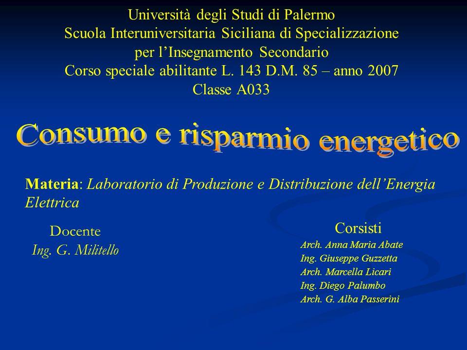 Università degli Studi di Palermo Scuola Interuniversitaria Siciliana di Specializzazione per lInsegnamento Secondario Corso speciale abilitante L.