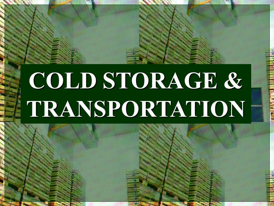COLD STORAGE & TRANSPORTATION