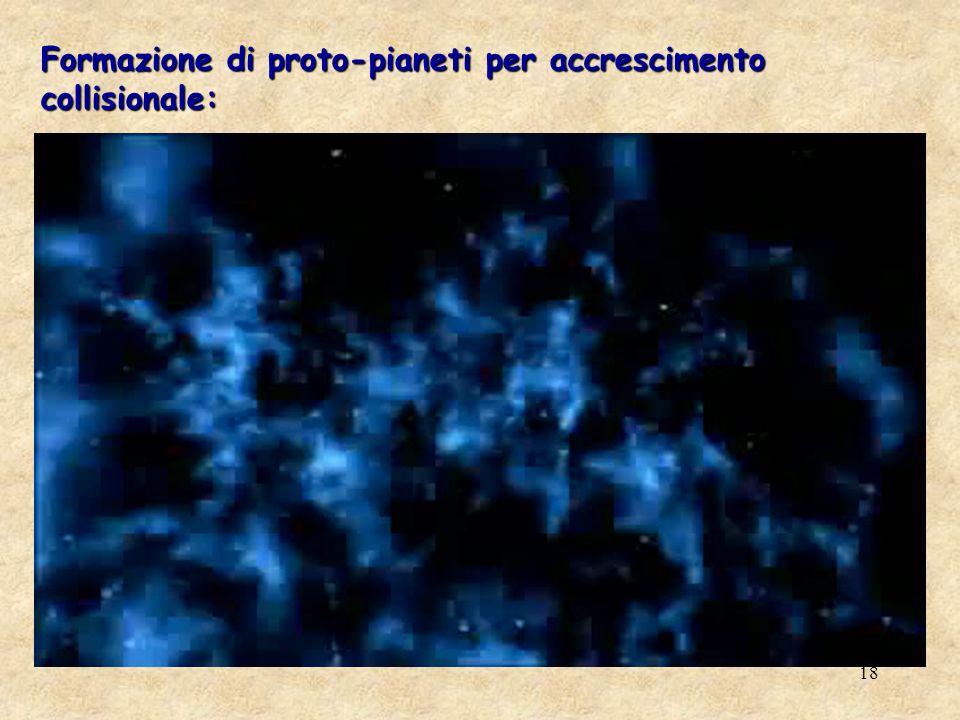 18 Formazione di proto-pianeti per accrescimento collisionale: