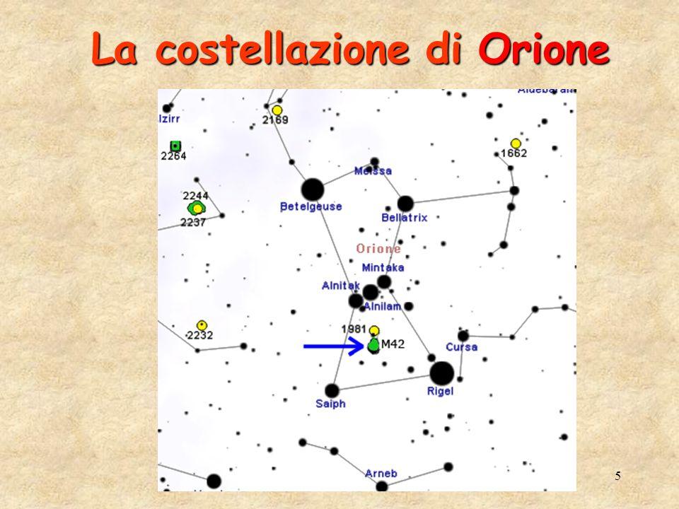6 La Nube Molecolare in Orione La Nube Molecolare in Orione