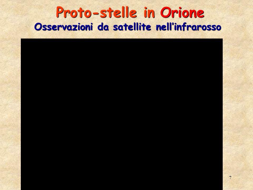 7 Proto-stelle in Orione Osservazioni da satellite nellinfrarosso Proto-stelle in Orione Osservazioni da satellite nellinfrarosso