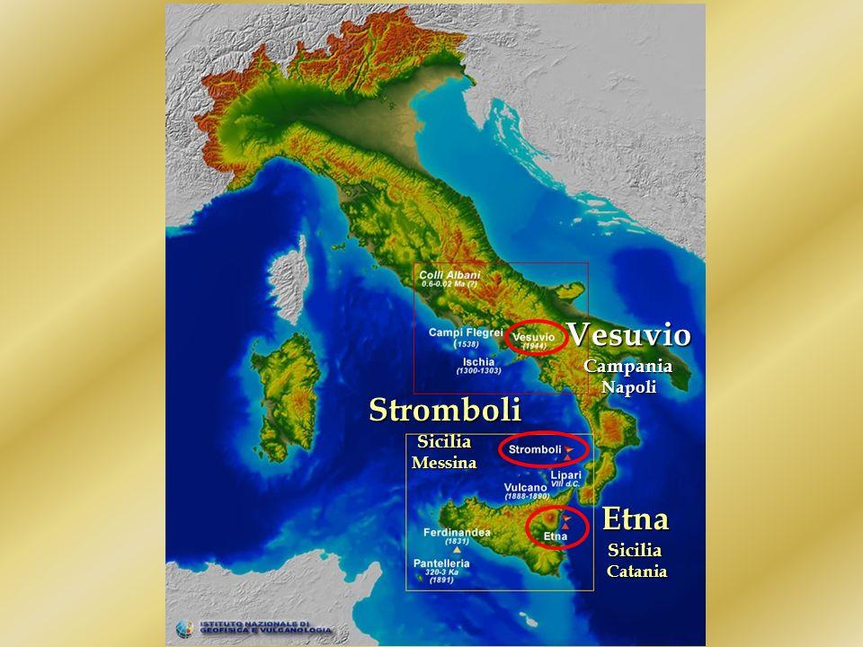 I vulcani in Italia In Italia sono presenti diversi vulcani. I principali sono:EtnaVesuvioStromboli