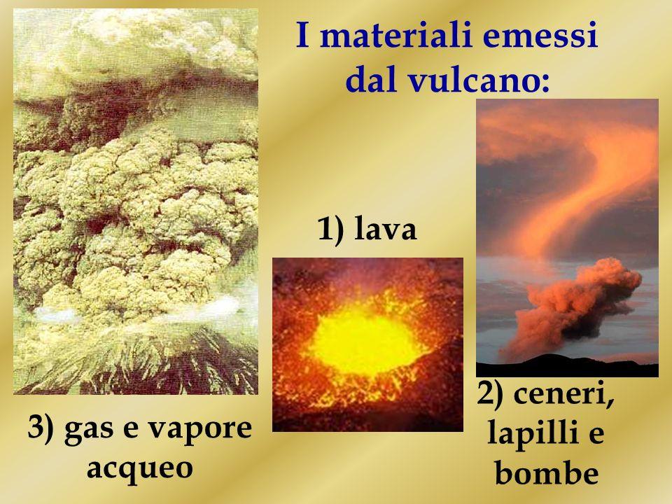 Un vulcano è una spaccatura della crosta terrestre attraverso la quale esce in superficie il materiale fuso presente allinterno della Terra (magma)