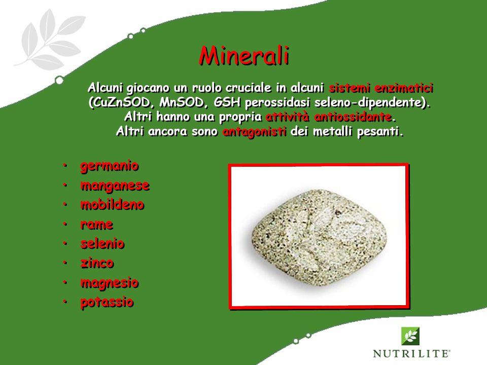 Minerali germanio manganese mobildeno rame selenio zinco magnesio potassio germanio manganese mobildeno rame selenio zinco magnesio potassio Alcuni gi