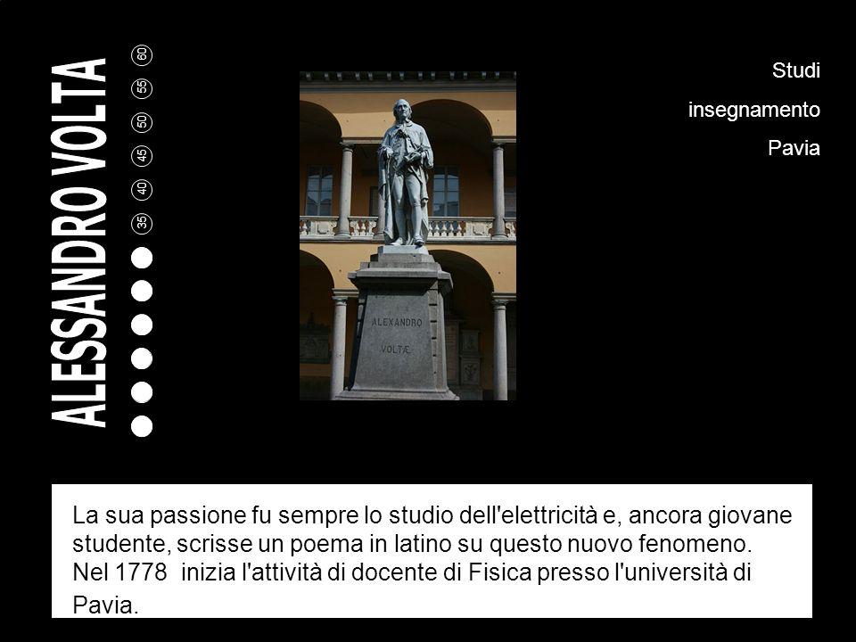 5 10 15 20 25 30 35 40 45 50 55 60 Alessandro Volta nasce a Camnago, vicino Como, il 18 febbraio 1745 da una famiglia dell'aristocrazia lombarda. Gli
