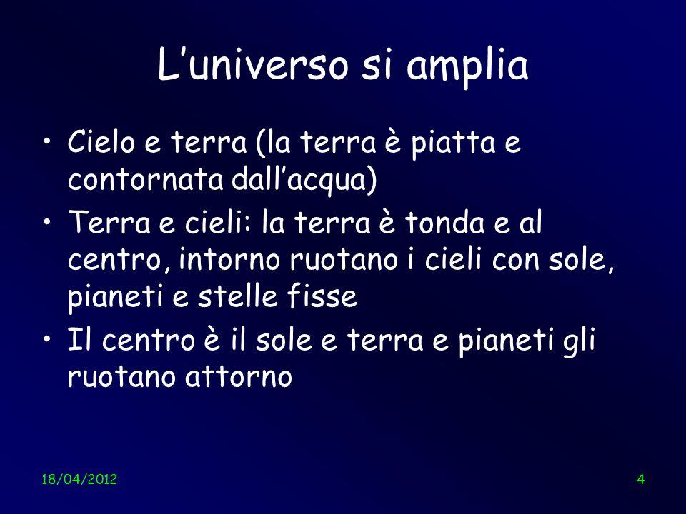 18/04/201235 Tiriamo le somme Siamo proprio piccoli… Da così a così Angelo Tartaglia35