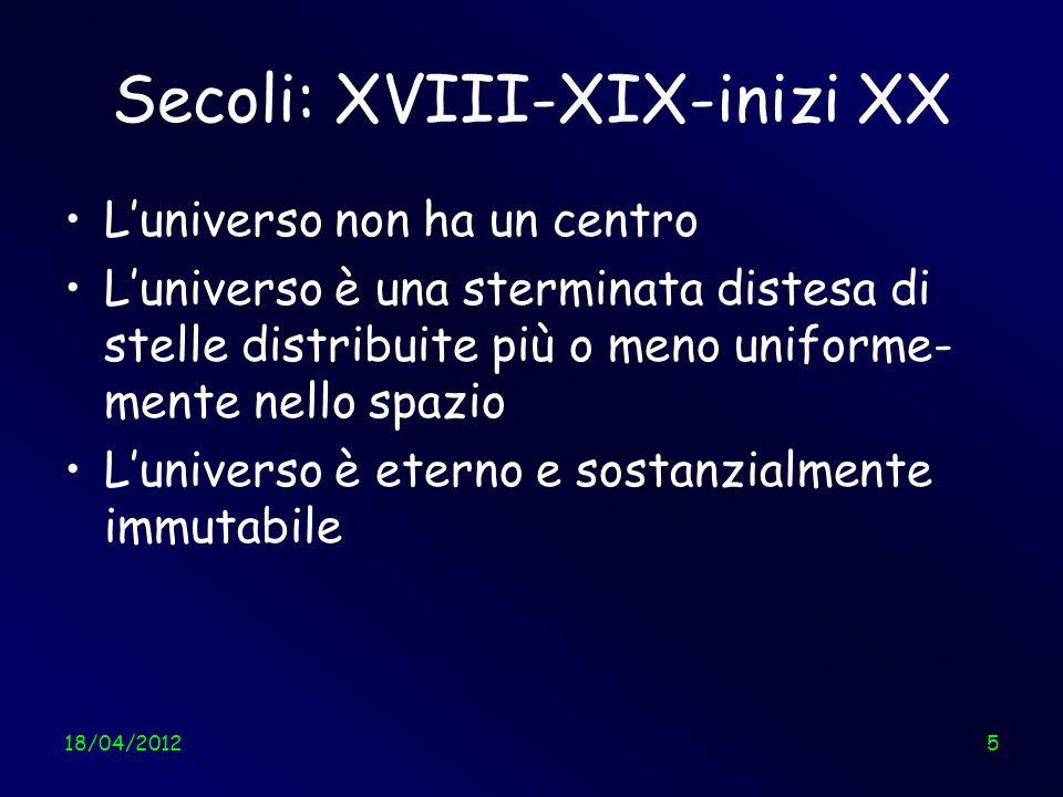 18/04/201226 Luniverso col senno di oggi Angelo Tartaglia26