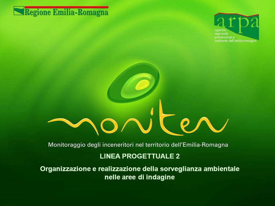 LINEA PROGETTUALE 2 Organizzazione e realizzazione della sorveglianza ambientale nelle aree di indagine