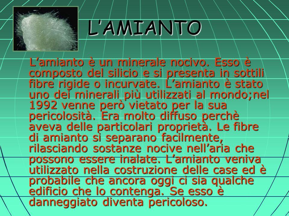 LAMIANTO Lamianto è un minerale nocivo.