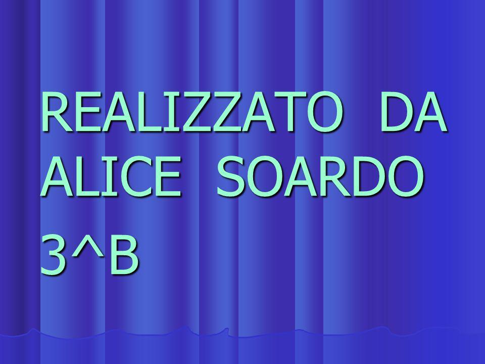 REALIZZATO DA ALICE SOARDO REALIZZATO DA ALICE SOARDO 3^B 3^B