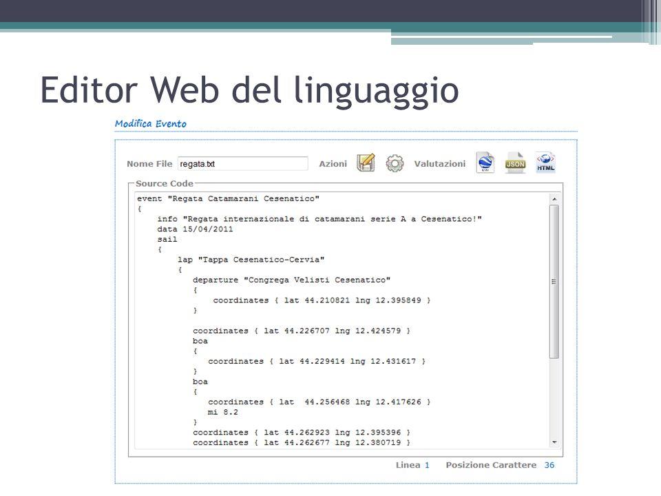Editor Web del linguaggio