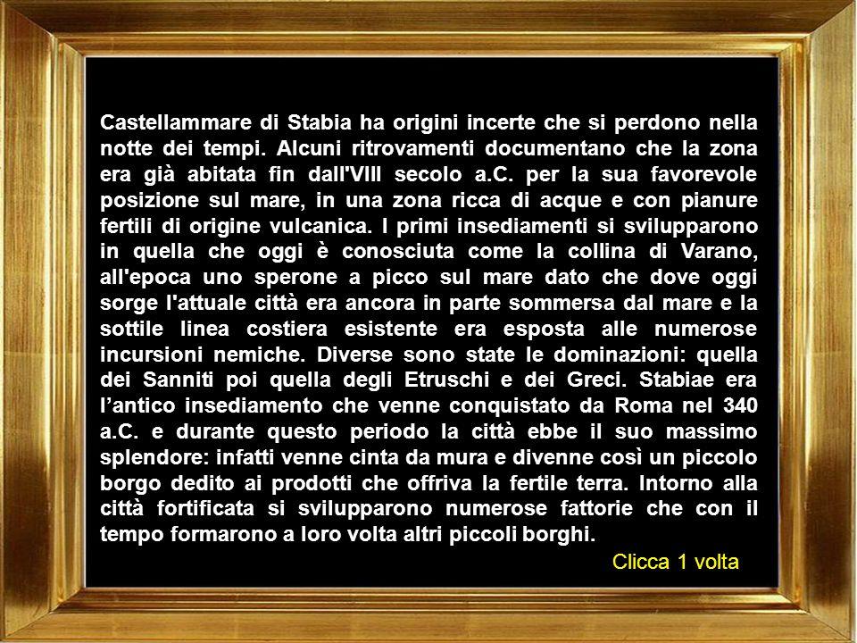 Nel 1842 Castellammare di Stabia diviene una delle prime città italiane ad essere dotata di una linea ferroviaria che la collegava direttamente con Napoli: questo portò non solo ad uno sviluppo della città oltre le mura difensive, ormai diventate inutili e quindi abbattute, ma a diventare un centro commerciale dove le mercanzie provenienti dalla Calabria e dalla Puglia venivano caricate sul treno.