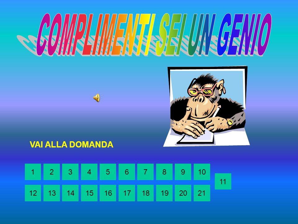 RITORNA ALLA DOMANDA 152436789 10 14151213161718192021 11
