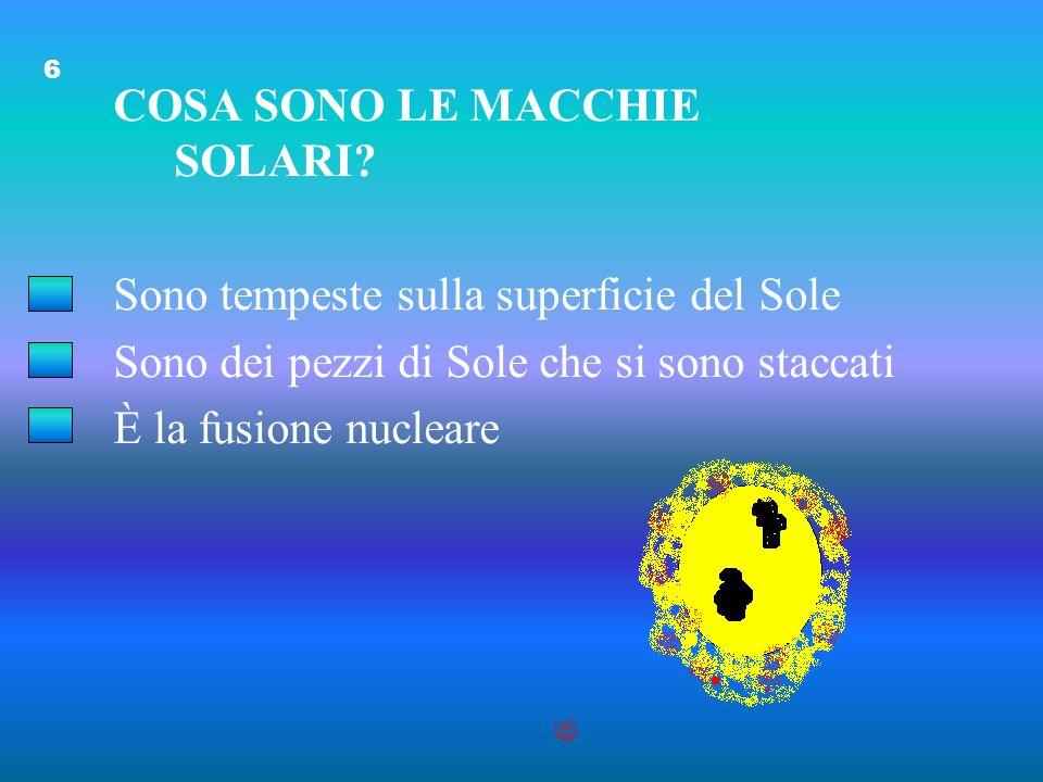 IL VENTO SOLARE È: Una tempesta di meteoriti Una esplosione di energia Flussi di gas e particelle 5